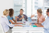 Young design team having a meeting together — Stock Photo