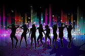 Digitally generated nightlife background — Stock Photo