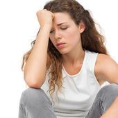 Sad young woman — Stock Photo