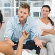 Couple at therapy session — Stock Photo #42921021