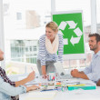 Team having a meeting about recycling policy — Stock Photo #42924325