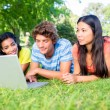 College students using laptop — Stock Photo #42925723