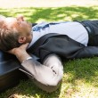 Businessman resting in park — Stock Photo #42928857