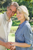 Happy couple head to head — Stock Photo