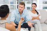 Couple at therapy session — Stock Photo
