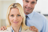 Smiling woman and man — Stock Photo