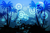 Digitally generated palm tree background — Stock Photo