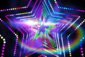 Digitally generated star laser background — Stock Photo