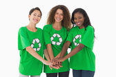 Team of environmental activists — Stock Photo