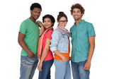 Four happy young friends — Stock Photo