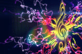 Digitally generated music background — Stock Photo