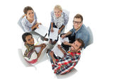 Group portrait of casual people in meeting — Foto Stock