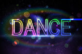 Digital dance text — Stock Photo