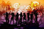 Digitally generated nightclub background — Stock Photo