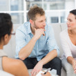 Unhappy couple at therapy session — Stock Photo #42930045