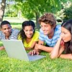 Students using laptop — Stock Photo #42932689