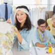 Fashion designers at work — Stock Photo