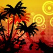 Digitally generated palm tree background — Foto Stock