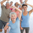 People doing power fitness exercise — Stock Photo #42936949
