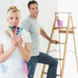 Couple in a new house — Stock Photo