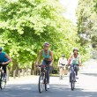Group of cyclists riding bikes — Stock Photo #42938229