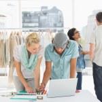 Fashion designers at work — Stock Photo #42939261