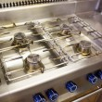 Kitchen gas stove burner — Stock Photo #42939721