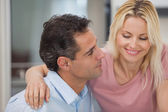 Loving man looking at happy woman — Stock Photo