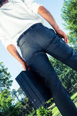 Rear view of businessman — Stock Photo