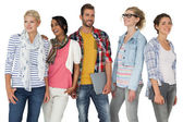Portrait of casually dressed young people — Stock Photo