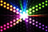 Digitally generated disco light background — Stock Photo