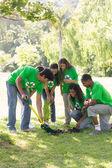 Environmentalists gardening in park — Stock Photo