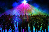 Digitally generated nightclub  — Stock Photo