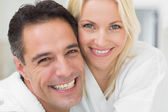 Cheerful woman and man — Stock Photo