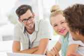 Closeup of a group of casual people — Stock Photo