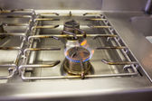 Gas stove with flame — Stock Photo