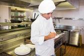 Cook mutfak panosuna yazma — Stok fotoğraf