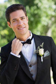 Nervous bridegroom — Stock Photo