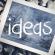 Ideas in search bar on tablet screen — Stock Photo #42976489