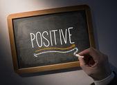 Escritura positiva en pizarra — Foto de Stock