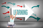 Learning against arrows pointing — Stock Photo