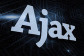 Ajax  - against futuristic black and blue background — Stock Photo