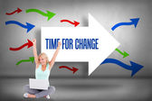 Time for change against arrows pointing — Stock Photo