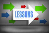 Lessons against arrows pointing — Stock Photo