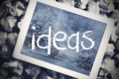 Ideas in search bar on tablet screen — Stock Photo