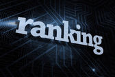 Ranking against futuristic black and blue background — Stock Photo