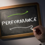Hand writing Performance on chalkboard — Stock Photo