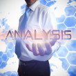 Businessman presenting the word analysis — Stock Photo