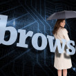 Businesswoman behind the word browse — Stock Photo #42987699