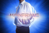 Businessman presenting the word - mainframe — Stock Photo